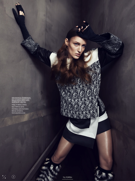 Franzi Mueller by Benjamin Vnuk for Elle Sweden March 2013  2