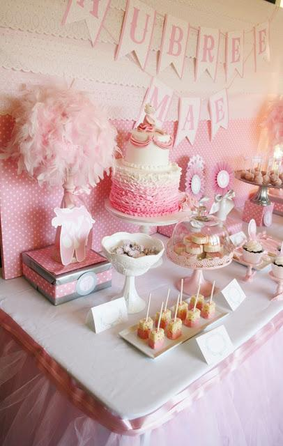 Ballerina Baby Shower Dessert Table By And Everything Sweet
