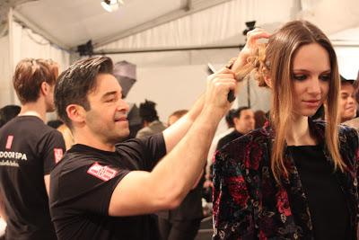 Backstage w/ Elizabeth Arden Red Door Spa at Emerson & Brandon Sun Fall 2013