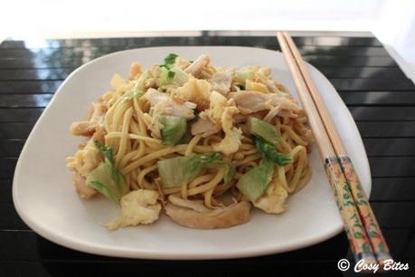 Stir Fried Egg Noodles with Chicken