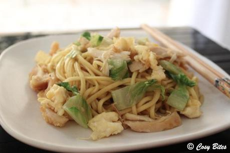 Stir Fried Egg Noodles with Chicken-1