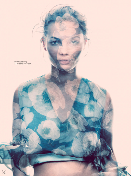 Moa Aberg by Andreas Sjodin for Elle Sweden March 2013 4