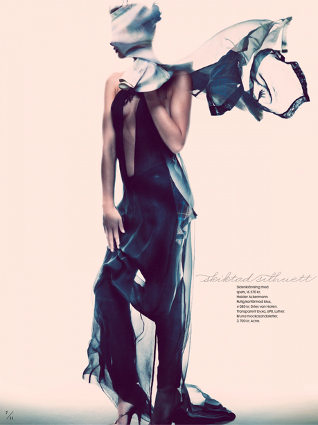 Moa Aberg by Andreas Sjodin for Elle Sweden March 2013 5