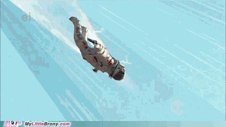 felix baumgartner paper Text courtesy: afp austrian daredevil felix baumgartner became the first man to  break the sound barrier in a record-shattering freefall jump.