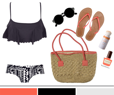 Scalloped Bikini + Tribal Boy Shorts...