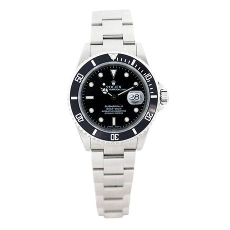 Stainless Steel Rolex Submariner 16610, rolex submariner pre owned, black dial sub