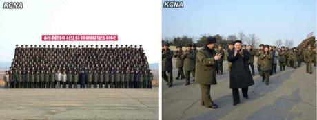 Kim Jong Un participates in a commemorative photo session after live fire artillery exercises (Photos: KCNA)