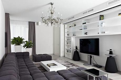 Black And White Apartment In Moscow | Interiors