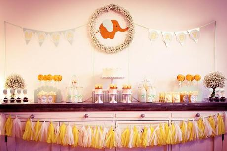 Elephant Themed Baby Shower by Petite Homemade