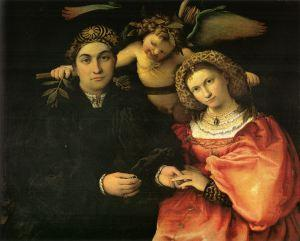 Messer Marsilio and His Wife by Lorenzo Lotto (1523)