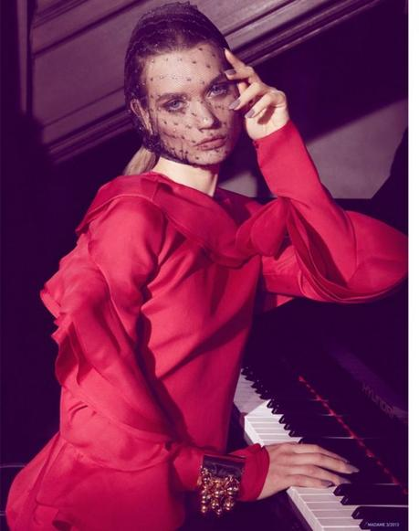 Lyoka Tyagnereva for Madame Germany March 2013 by Jamie Nelson  4