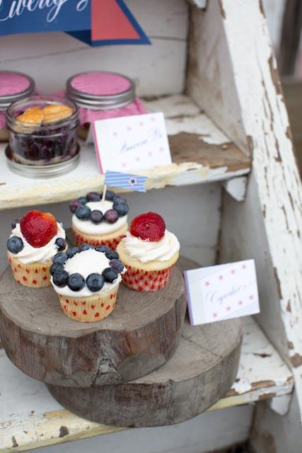 Americana-Inspired-Cupcakes,Dom Loves Mary calligraphy font, cursive fonts, script fonts, calligraphy fonts, wedding fonts, fonts for weddings, fonts for invitations, best selling fonts, top selling fonts, most popular fonts, DIY wedding fonts, Elizabeth Anne Designs, Americana themed wedding, Americana themed signs, Americana themed party, Debi Sementelli, Lettering Art Studio