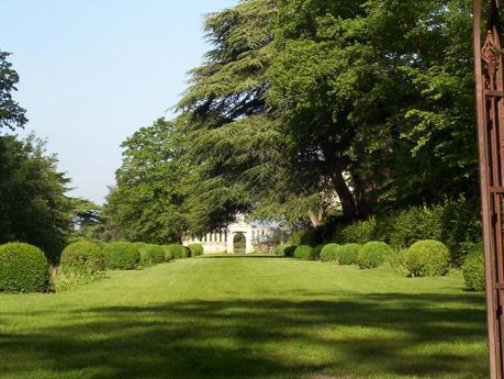 Château de la Bourdaisière Castle - front lawn with entrance gate -  Loire Valley - France