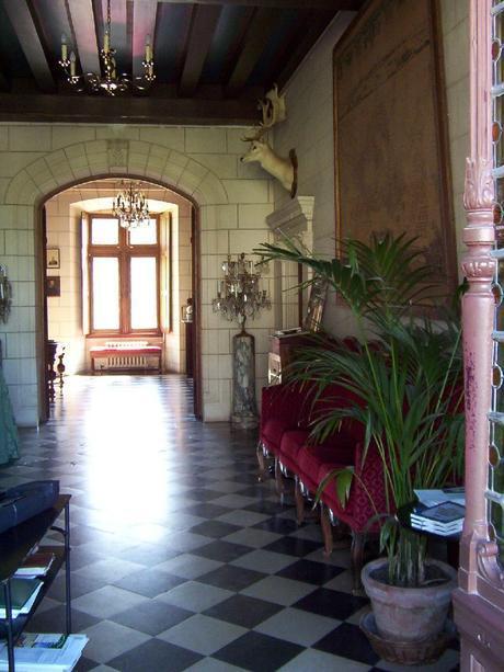 Château de la Bourdaisière Castle - hallway with sunlight-  Loire Valley - France