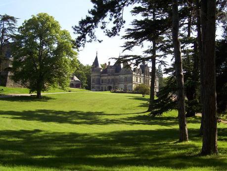 Château de la Bourdaisière  - lawn & forest -  Loire Valley - France