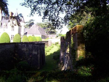 Château de la Bourdaisière Castle - walls and forest-  Loire Valley - France