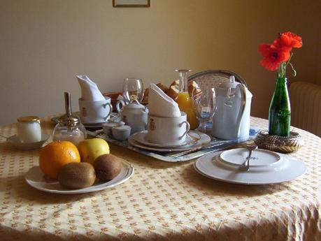 Château de la Bourdaisière - breakfast served for two in our bedroom -  Loire Valley - France
