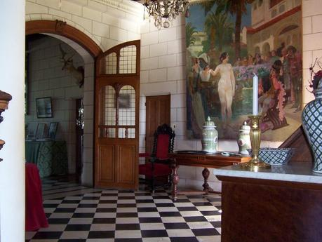 Château de la Bourdaisière Castle - painting in hallway -  Loire Valley - France