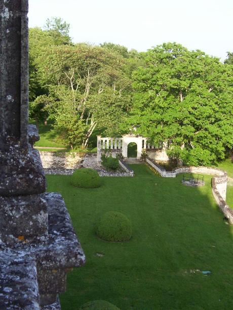 Château de la Bourdaisière -view from our balcony to battlement ruins -  Loire Valley - France
