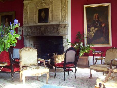 Château de la Bourdaisière Castle - interior fireplace -  Loire Valley - France