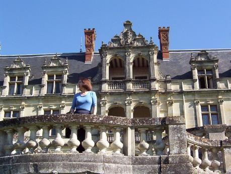 Château de la Bourdaisière Castle - Jean on the courtyard balcony -  Loire Valley - France