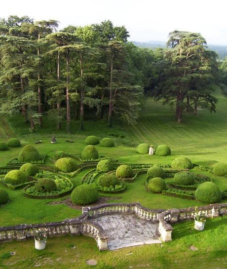 Château de la Bourdaisière - formal gardens on edge of forest -  Loire Valley - France