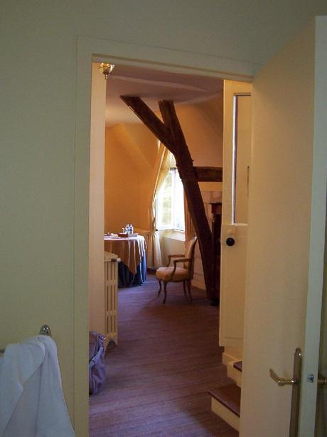Château de la Bourdaisière - wooden supports in our bedroom -  Loire Valley - France