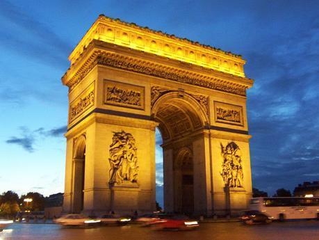 Arc de Triomphe at sunset - Paris - France