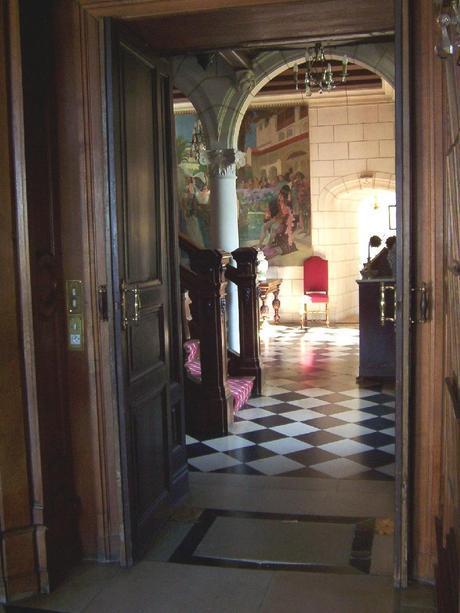 Château de la Bourdaisière Castle - hallway -  Loire Valley - France