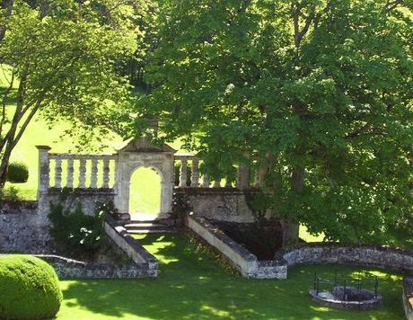 Château de la Bourdaisière Castle - entrance gate to forest -  Loire Valley - France