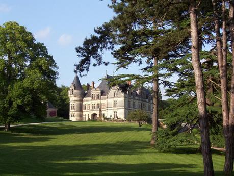 Château de la Bourdaisière Castle with front lawns -  Loire Valley - France