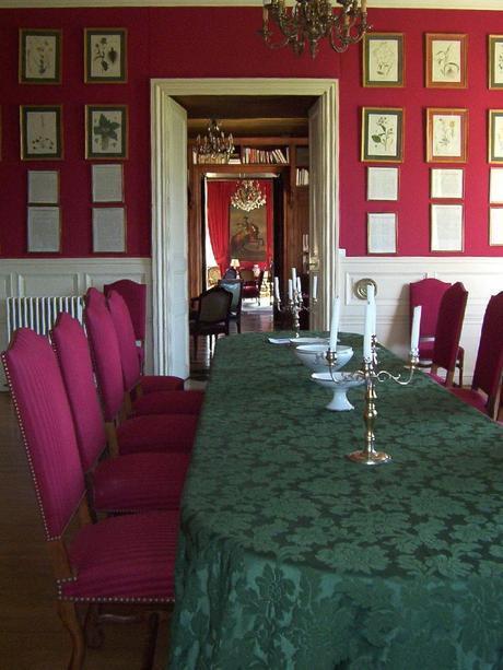 Château de la Bourdaisière Castle - interior view-  Loire Valley - France