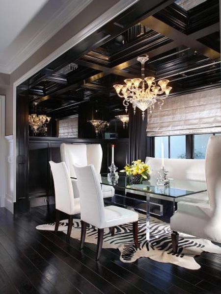 decor black and white rooms3 Be Bold and Daring: Decorate with Black and White HomeSpirations