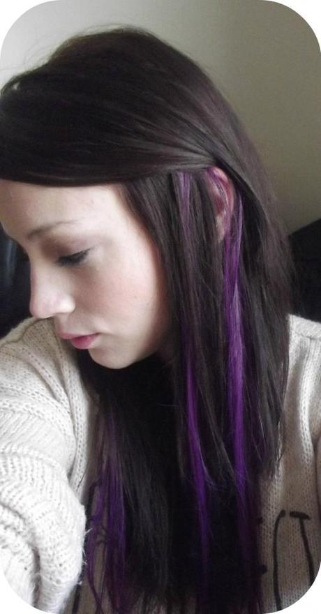 Purple Streaks In My Hair I Amp Clip In Highlight Paperblog