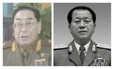 Previous Minister of People's Security Paek Hak Rim (L) and Ju Sang Son (R) (Photos: KCTV screengrab and KCNA)