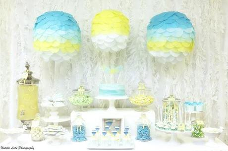 Up Up and Away Baby Shower Table by Sugar Coated Mama