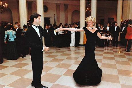 Victor Edelstein Dress, White House Visit, princess diana dance with john travolta