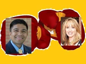 Victor Ramirez and Kelly Schulz