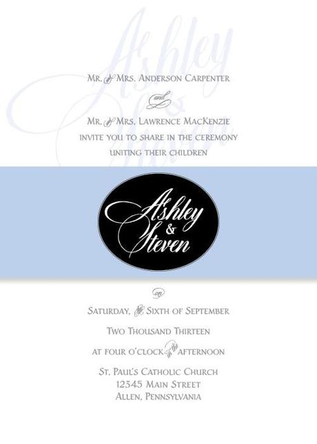 Post image for Wedding Invitation with Dom Loves Mary Calligraphy Font