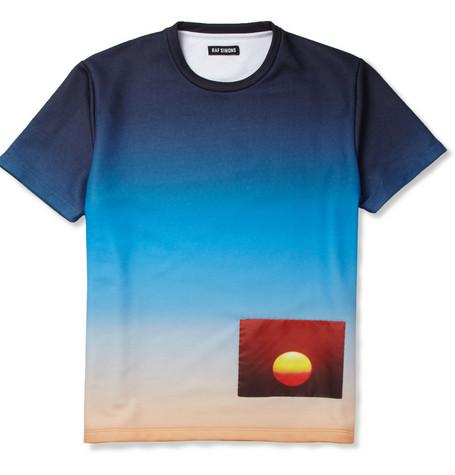 Raf Simons Printed Loopback Cotton-Blend Jersey T-Shirt...