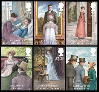 IN MY MAILBOX:  LOVELY JANE AUSTEN STAMPS AND NOT ONLY