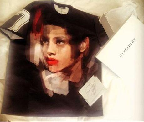 Rihanna's Custom Givenchy T-Shirt by Riccardo...