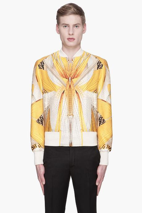 Alexander Mcqueen Ivory And Gold Dragonfly Wings Silk_wool Jacket