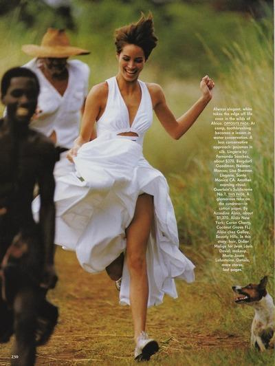 azedine alaia cotton pique sun dress_christy turlington_vogue may 1990_hans feurer