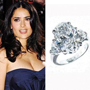 salmahayek Oval engagement ring