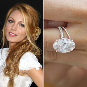 Blake Lively Oval Diamond Shapes