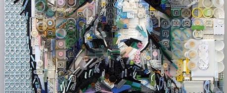Amazing portraits made using discarded trash