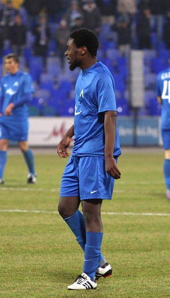 Yulu-Matondo when playing for Levski Sofia. Courtesy of Biso