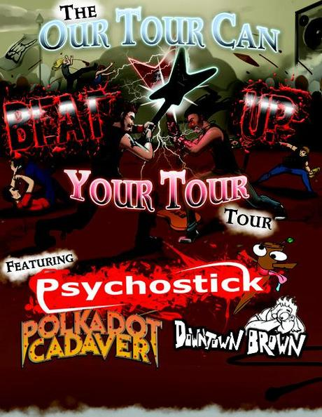 PSYCHOSTICK Announce More Dates For 'Our Tour Can Beat Up Your Tour'; New Video 'Dogs Like Socks'
