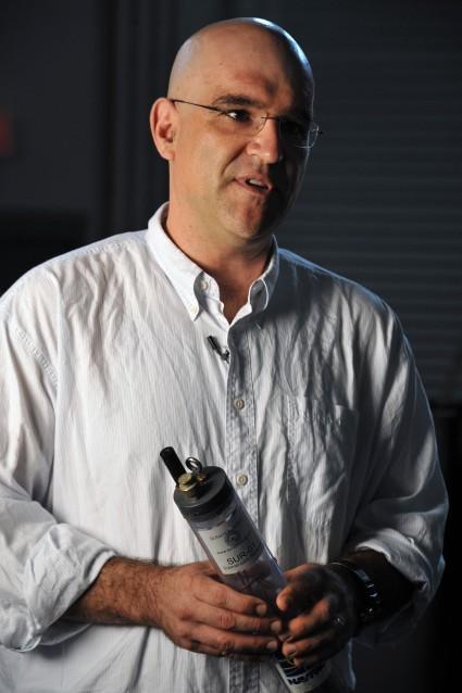 Dr. Lenny Tender, an NRL research chemist (Credit: Jamie Hartman, U.S. Naval Research Laboratory)